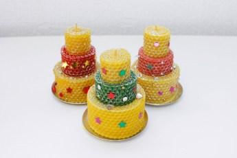 Свеча тортик  Медовые Свечи Сибири