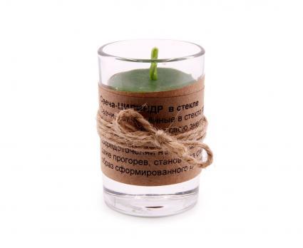Свеча Цилиндр в стекле Медовые свечи Сибири