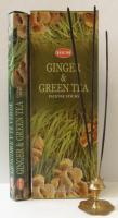 Благовоние HEM GINGER GREEN TEA Имбирь Зеленый чай