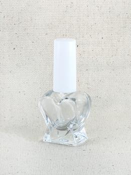 Сердечко, 10 мл., стекло, белый пластик микроспрей