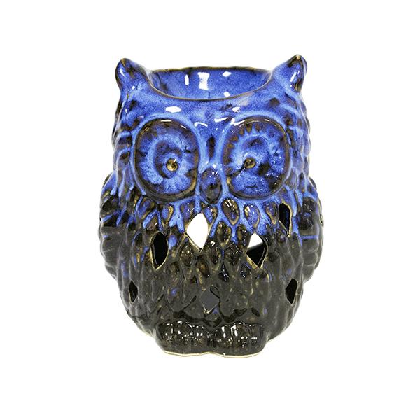 Аромалампа Сова 10х12 см черно-синяя