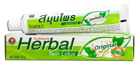 Зубная паста HERBAL с травами TWIN LOTUS