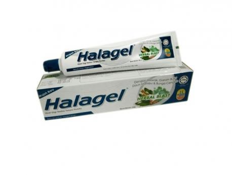 Зубная паста-гель HERBAL BLAST HALAGEL c каменной солью 100 гр.