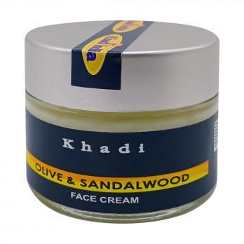 """Питательный крем для лица """"Сандал и Олива"""" KHADI INDIA, 50 г"""
