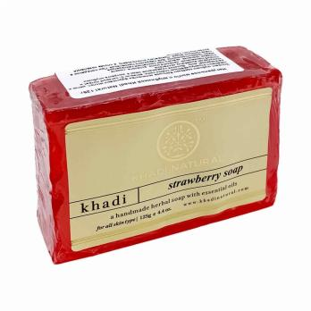 Натуральное мыло с клубникой KHADI NATURAL, 125 г