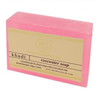 Натуральное мыло с розовой водой KHADI NATURAL, 125 г