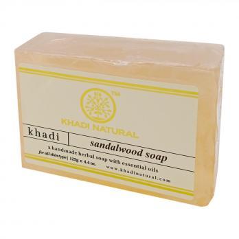 Натуральное мыло с сандалом и кукурмой KHADI NATURAL, 125 г