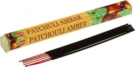 Благовоние HEM PACHOULI AMBER 20 палочек