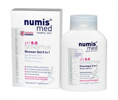 Гель для душа 2 в 1 Спорт Sensitive pH 5.5 NUMIS MED 200 мл