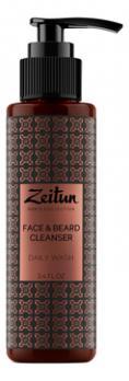Гель для душа и умывания очищающий для мужчин.Для лица и бороды ZEITUN 100 мл